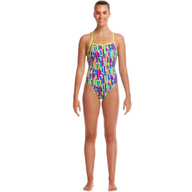 Funkita Strapped In One Piece Swimsuit Dames, mixed signals